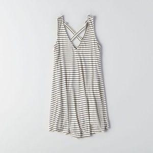 AE soft & sexy V-neck cross back shift dress